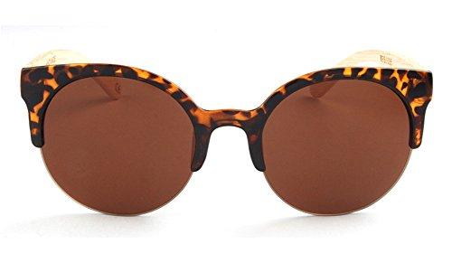 1035 para Gafas de Print Wood hombre Insun Frame sol wSTAOnq