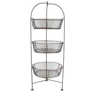 32u0026quot; Standing 3 Tier Wire Metal Basket Fruit Vegetable Kitchen Holder  Pears
