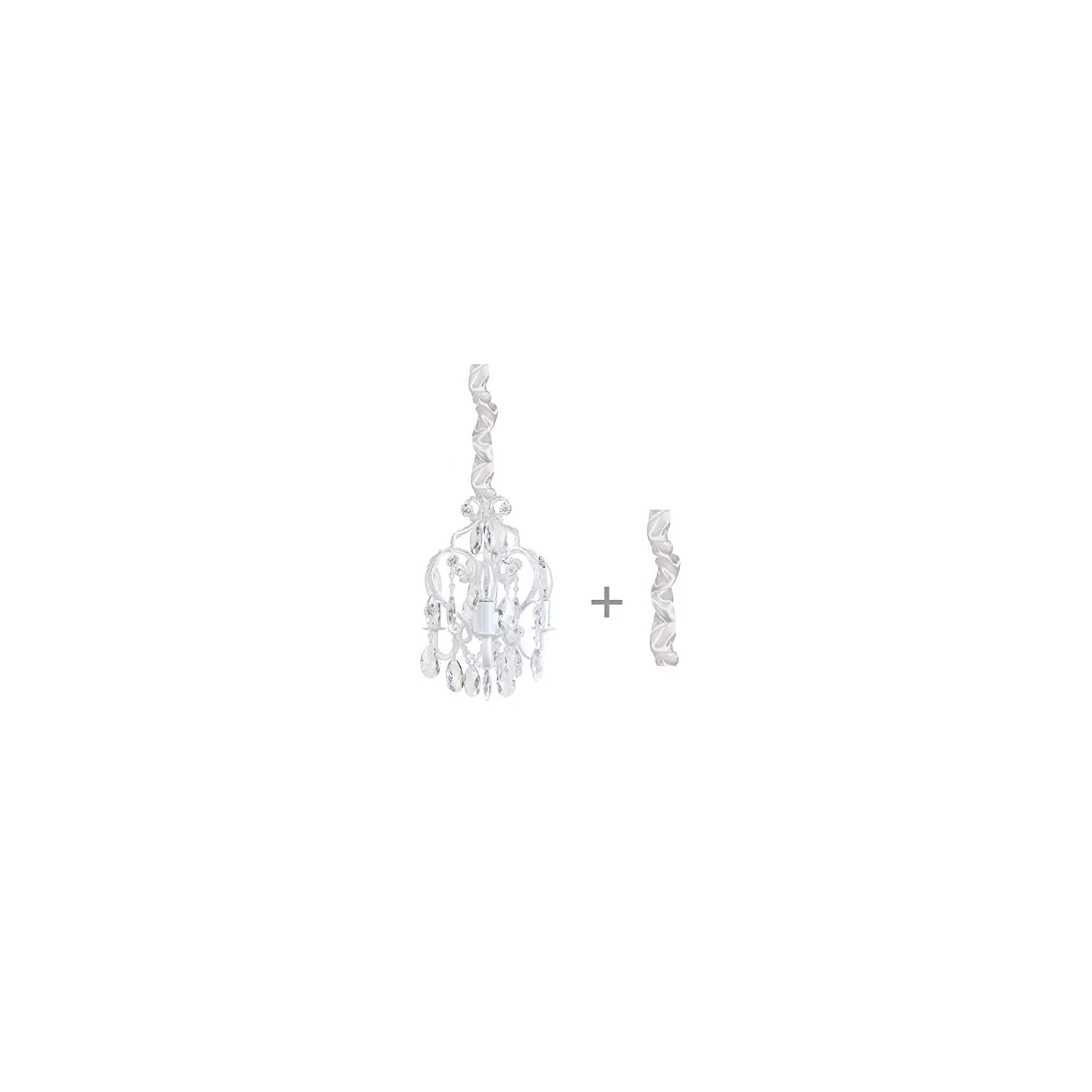 Tadpoles Chandelier Satin Chain Cover, White, One-Size