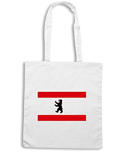 T-Shirtshock - Bolsa para la compra TSTEM0008 berlin flag white Blanco
