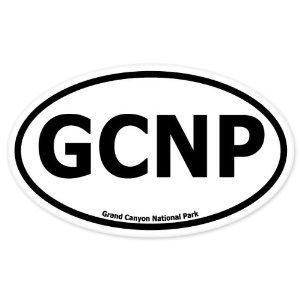 Grand Canyon National Park Oval car bumper sticker 5