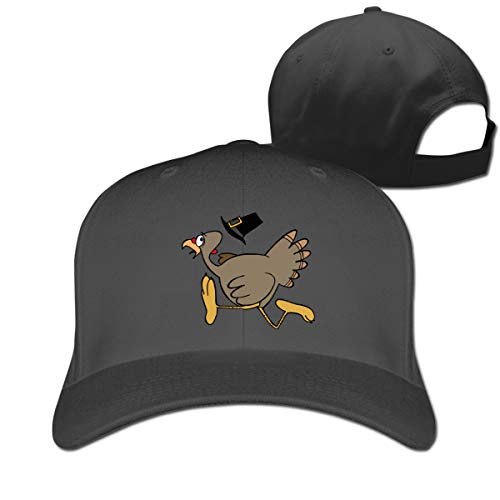 Turkey Trot Pure Color Baseball Cap Adjustable Dad Trucker Hats Unisex Black