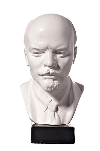 danila-souvenirs Soviet Russian USSR Leader Vladimir Lenin Marble Bust Statue Sculpture 5.1'' White by danila-souvenirs
