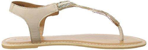 New Look Flutter Embellished - Sandalias con tacón Mujer beige (Oatmeal)