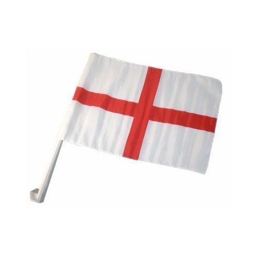 ENGLAND ST GEORGE CAR FLAG PACK OF 5 BY GRANDGADGETS E003-251-09777-PMS-5