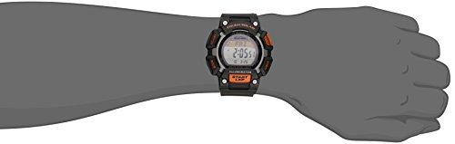 Casio Men's STL-S110H-1ACF Tough Solar Runner Digital Black and Orange Watch