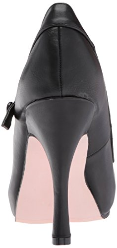 Ellie Shoes Womens 423-babydoll Platform Pump In Poliuretano Nero