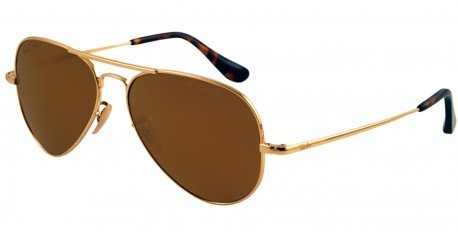 8369c32b83ca2 Image Unavailable. Image not available for. Colour  Ray-Ban Gold Aviator  Sunglasses (RB8029K ...