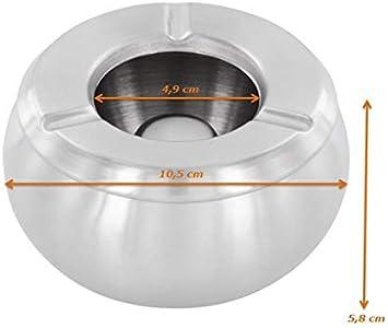 /ØxH=10,5x6 cm 10 St/ück Luxpresso Twister Windascher//Windaschenbecher Edelstahl//Aschenbecher f/ür drau/ßen