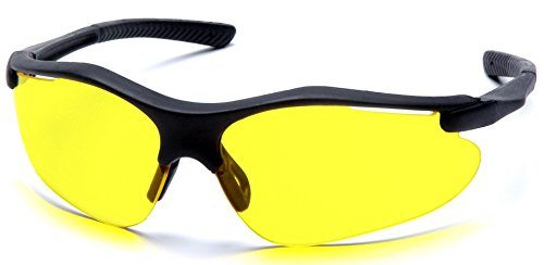 Pyramex Fortress Safety Eyewear, Amber Lens With Black (Glasses Amber Lens)