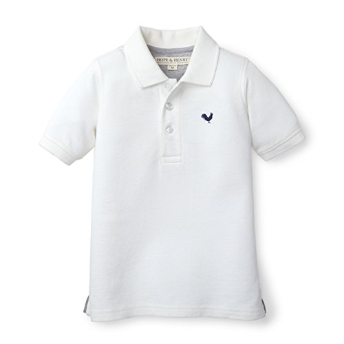 Hope & Henry Boys Soft Lightweight White Pique Polo Made With Organic Cotton (Rugby Pique Cotton)