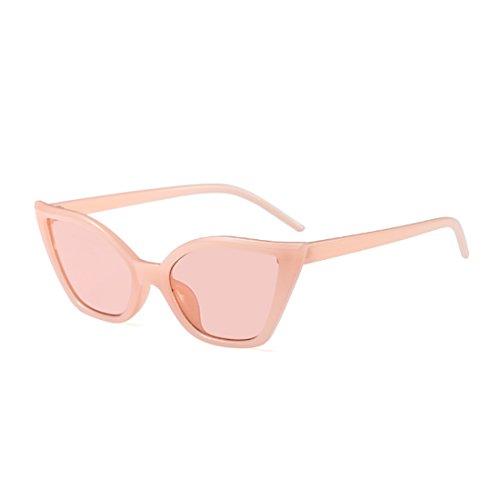 Yefree Moda de Moda Rosa gato gafas retro de de resina gafas Vintage ojo marco pequeñas sol qrBdqRwtx