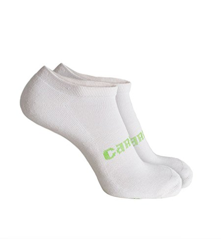 Cariloha Men's Viscose From Bamboo Ankle Socks (L/XL, White/Green) (Mens White Ankle Socks Xl)
