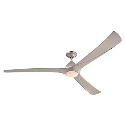 Westinghouse Lighting 7203900 Techno II 72-inch Titanium Indoor DC Motor Ceiling Fan, Dimmable LED Light Kit with Opal Frosted Glass