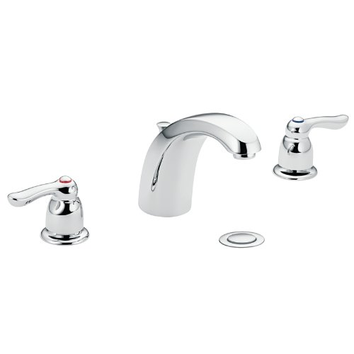 - Moen 4945 Chateau Two-Handle Low Arc Bathroom Faucet, Chrome