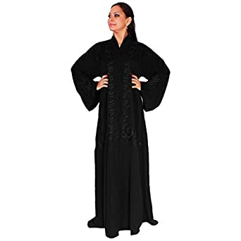 Arabeska Black Casual Abaya For Women