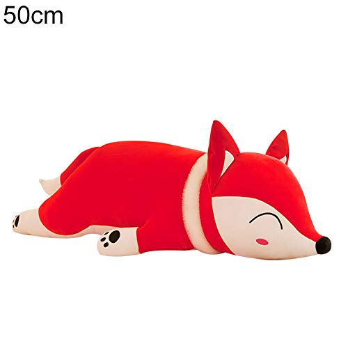 Soft Stuffed Cute Simulation Fox Plush Toy Sleeping Doll Home Pillow Gift