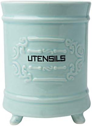 French Blue Ceramic Utensil Holder