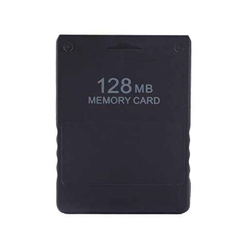 fosa Playstation 2 Memory Card, 8M-256M Memory Card High Speed for Sony PlayStation 2 PS2 Console Games Accessories(128 M)