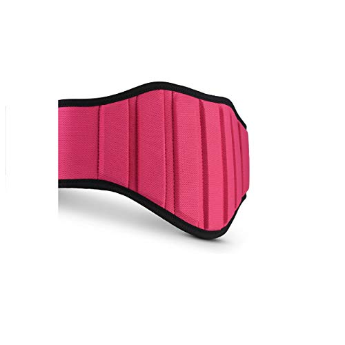 RIMSports Weight Lifting Belt Best Lifting Belt Weightlifting- Ideal Weight Belt Men & Women - Premium Powerlifting Belt (Pink, L)