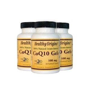 Healthy Origins社 CoQ10 100mg 60錠入り ソフトジェルタイプ お徳用3本セット 海外直送品 B009OXGYHM