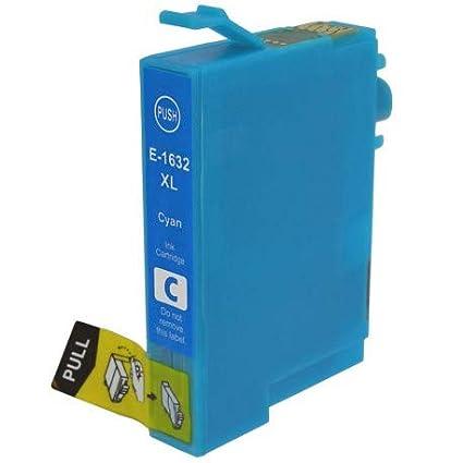 Cartucho de Tinta Compatible con Epson T1632 XL Cian para ...