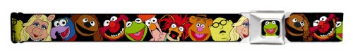 Walt Disney Seatbelt Belt - Muppets Kermit, Animal, Fozzie, Beaker, Gonzo, Miss Piggy