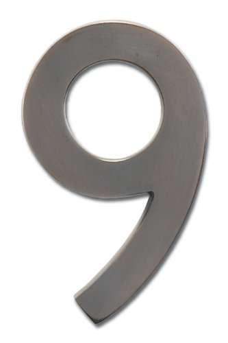 Architectural Mailboxes 3585DC-9  Brass 5-Inch Floating House Number 9, Dark Aged Copper by ARCHITECTURAL MAILBOXES (Image #4)