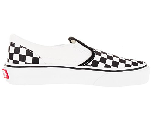 Little Black Classic Big Vans on Kids' True Checkerboard White Slip w4ppx1gInq