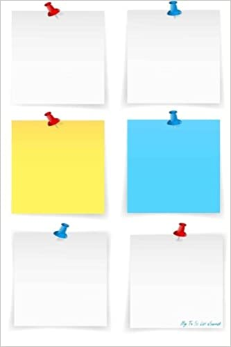 amazon my to do list journal blank sticky notes vector 6 x 9