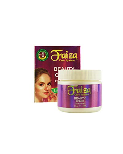 Faiza Anti Wrinkle Kojic Acid Skin Lightening Cream, 2 oz - Made in USA - Natural Ingredients | Soap included | Face, Neck, Under Eye & Body - Best Day and Night Blemish & Stretch Mark Control Cream