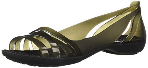 Ballet 2 Crocs Black Isabella Huarache Flat Women's Black TwxgnB1qFn