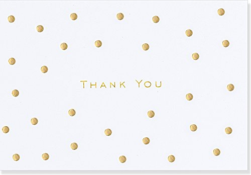 (Gold Dots Thank You Notes)
