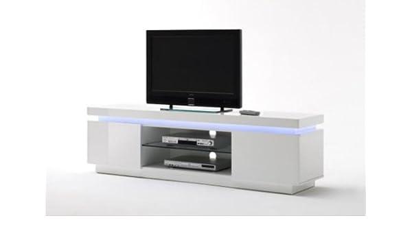 Dreams4Home TV-mueble para Atlantis, en color blanco brillante, incluye RGB-LED mando a distancia, sala de estar, cómoda, TV-armario, cómoda, televisor: Amazon.es: Hogar