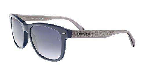 Ermenegildo Zegna EZ0028-N 92B Blue/Silver Square Sunglasses for sale  Delivered anywhere in USA