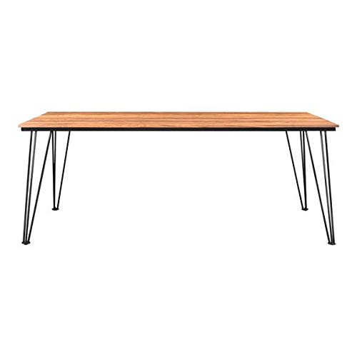 79'' Meeting Table or Executive Desk in Teak Wood and Stainless Steel