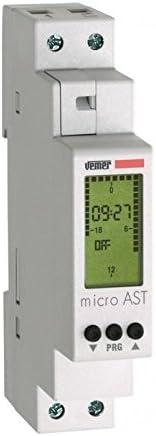 Vemer VE762300 Micro AST Interrupteur cr/épusculaire astronomique avec Programmation Nocturne de Barre Din Gris Clair