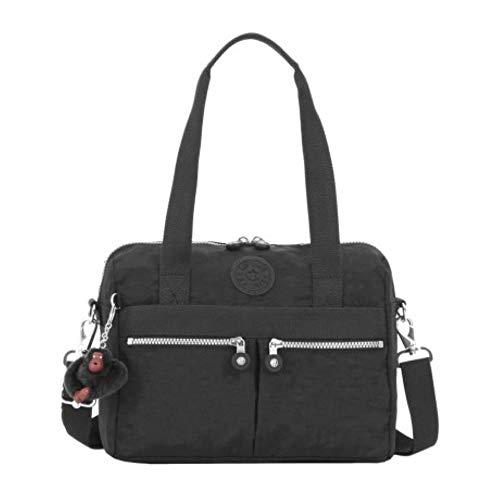 Kipling Klara Satchels Shoulder Crossbody Bag (Black)
