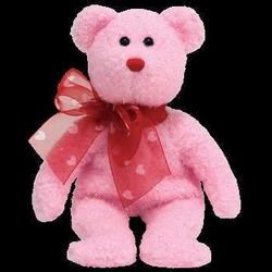 My Sweet Pink Bear w/Heart Ribbon