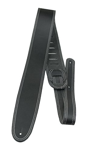 Perris Leathers BDS-175 2.5-Inch Double Stitched Leather Adjustable Guitar Strap