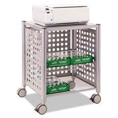 - -- Deskside Machine Stand, 2-Shelf, 21-1/2w x 17-7/8d x 27h, Matte Gray