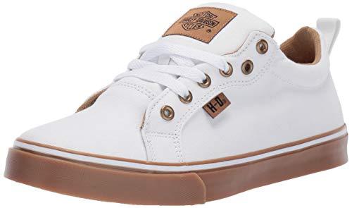 HARLEY-DAVIDSON Women's Torland Sneaker White 08.5 M US