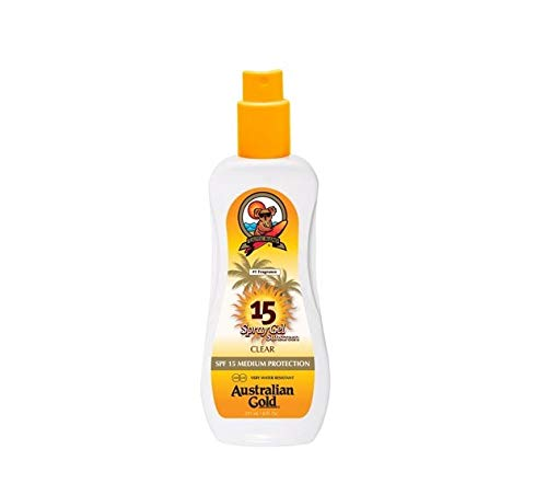 Australian Gold Spray Gel Sunscreen, Moisture Max, Infused with Aloe Vera, Broad Spectrum, Water Resistant