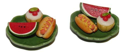 LPS 1:6 Scale Food Sets for Dollhouse Miniatures Littlest Pet Shop & Barbie Dolls Breakfast, Lunch, Dinner & More (Hot-Dog Set) -