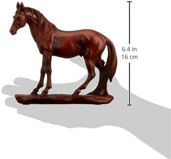SS-UG-PY-0270 StealStreet Faux Wood Like Sculpted Resting Horse Decor Model StealStreet Home