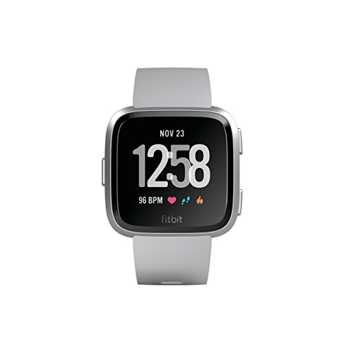 Fitbit Versa Smartwatch, Gray/Silver Aluminium, One Size (S & L Bands Included) by Fitbit (Image #1)