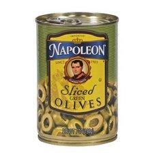 Napoleon Green Sliced Olives, 7 oz