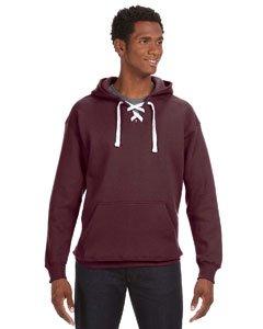 Maroon Hockey Hood Sweatshirt: 80% Ringspun Cotton, 20% Polyester Fleece Fabric.,Maroon,Large