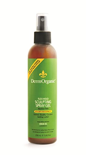 DermOrganic Flex Hold Sculpting Anti-Fade Spray Gel with Argan Oil - Alcohol-Free, 8.45 fl.oz