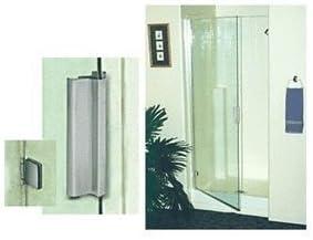 Crl Brushed Nickel Frameless Kd 1 4 Hinge Shower Door Kit 64 High Misc Amazon Com